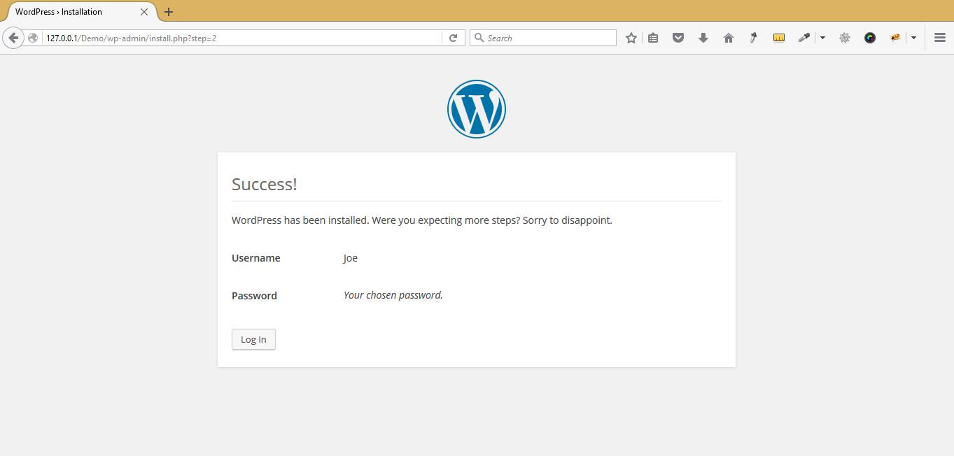 Instalación de WordPress en el host local - Xampp