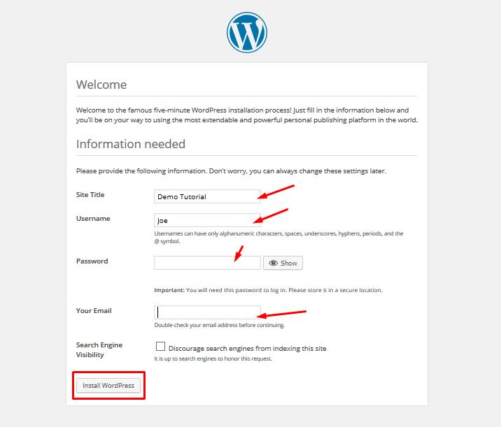 xampp_wordpress installation_3