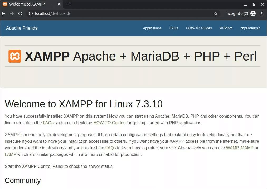 Cómo instalar XAMPP en Linux Localhost