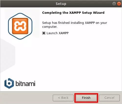 Cómo instalar XAMPP en Linux Iniciar Aplicación