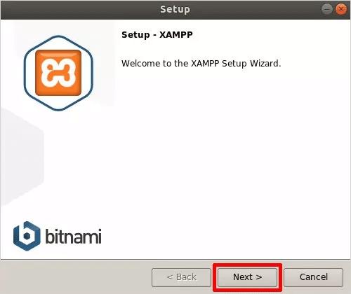 Cómo instalar XAMPP en Linux Pantalla principal